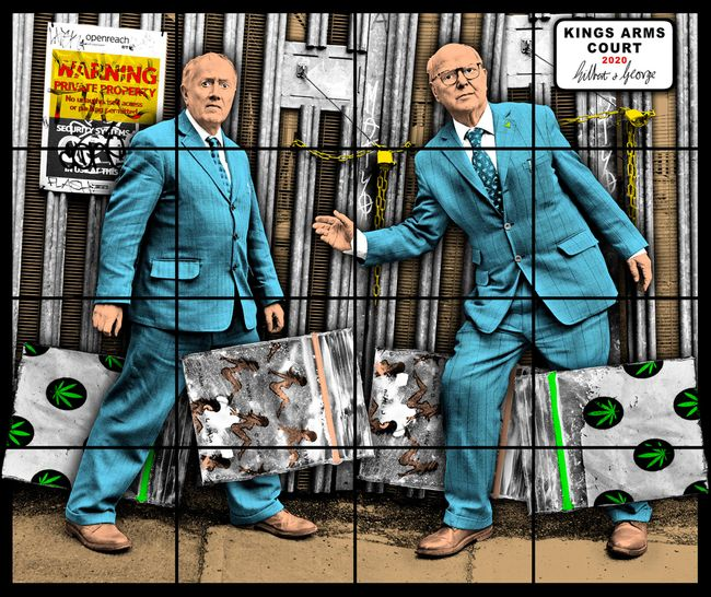 KINGS ARMS COURT by Gilbert & George contemporary artwork