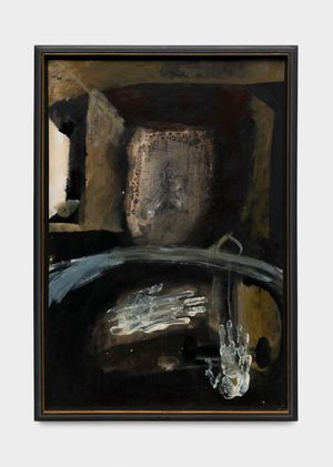 Deux mains by Antoni Clavé contemporary artwork painting, works on paper