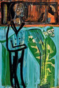 Bowing Tatars by Tang Jo-Hung contemporary artwork painting