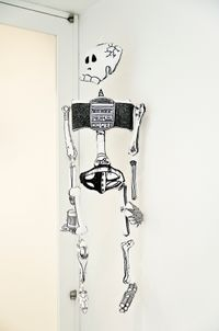 Games, Dance, and the Constructions (soft toy/skeleton) by Teppei Kaneuji contemporary artwork mixed media