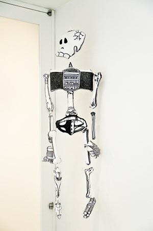 Games, Dance, and the Constructions (soft toy/skeleton) by Teppei Kaneuji contemporary artwork
