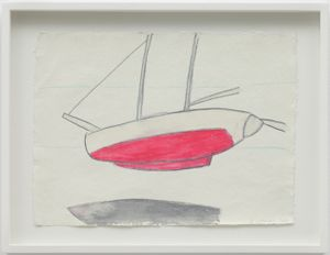 Boat, Reading Dante by Joan Jonas contemporary artwork works on paper, drawing