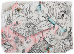 To Let by Hardeep Pandhal contemporary artwork painting, works on paper, drawing