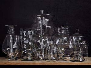 Glassware still life #1 by Abelardo Morell contemporary artwork