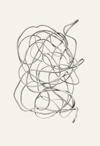 Turn into its own loop I by Kong Chun Hei contemporary artwork works on paper, drawing
