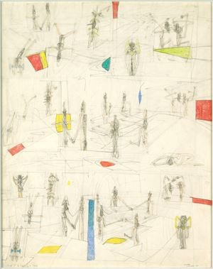"First State of ""Splitting of the Ergo"" by Roberto Matta contemporary artwork"