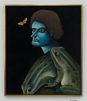 Portrait with Frogs by Nicolas Party contemporary artwork