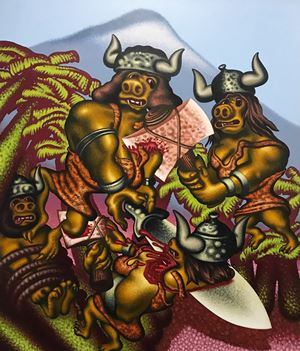 Prehistoric Women by Peter Saul contemporary artwork