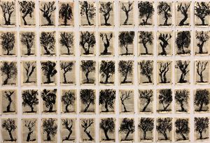 Drawing from Waiting for the Sybil (Trees I) by William Kentridge contemporary artwork