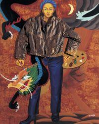 초상화, Self-Portrait by Jung Kangja contemporary artwork painting, sculpture