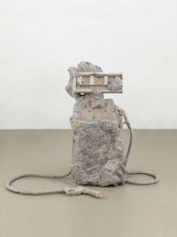 2 hose petrified Petrol Pump by Allora & Calzadilla contemporary artwork sculpture