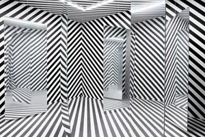 Espace à pénétrer avec trame (Variation du labyrinthe de 1963) by Julio Le Parc contemporary artwork
