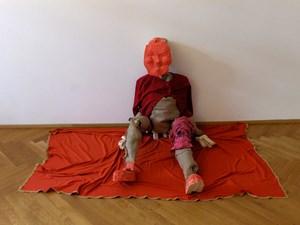 Red Man by Róza El-Hassan contemporary artwork