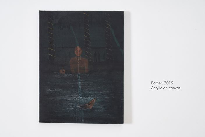 Exhibition view: Abul Hisham, Recitation, Galerie Mirchandani + Steinruecke, Mumbai (15 March–4 May, 2019). Courtesy Galerie Mirchandani + Steinruecke.