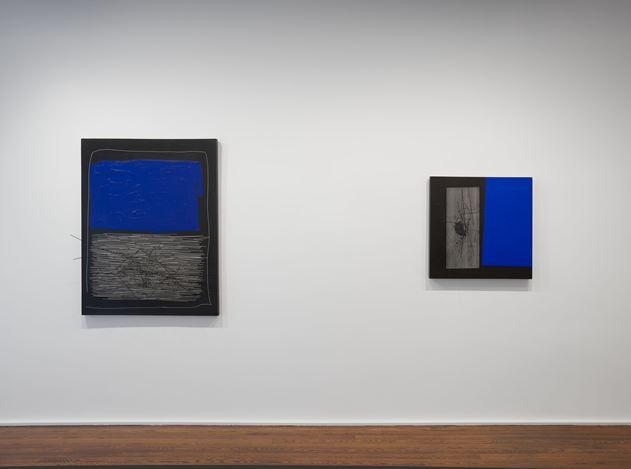 Exhibition view: Soto,Vibrations 1950—1960,Hauser & Wirth, New York, 69th Street (29 April—26 July 2019). © 2019 Artist Rights Society (ARS), New York / ADAGP, Paris. Courtesy Hauser & Wirth.Photo: Thomas Barratt.