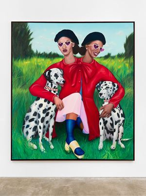Parisian Girls by Vaughn Spann contemporary artwork