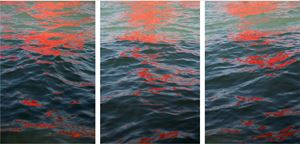 Riflessi (Red Regatta - 1 September 2019) by Melissa McGill contemporary artwork