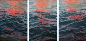 Riflessi (Red Regatta - 1 September 2019) by Melissa McGill contemporary artwork