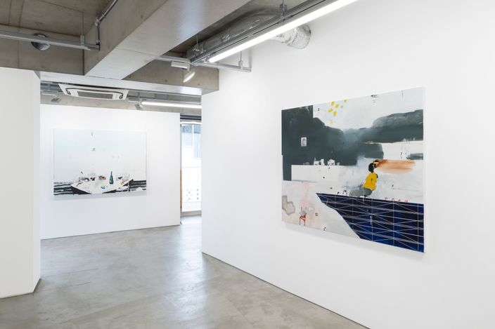 Installation view from8 Paintings ( from the midlands )by Brian Harte