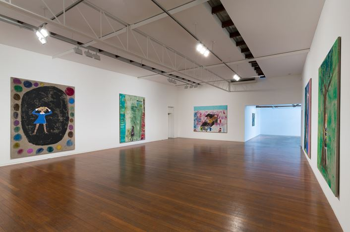 Exhibition view: Jenny Watson, Peripheral Vision, Roslyn Oxley9 Gallery, Sydney (10 May–2 May 2018). Courtesy Roslyn Oxley9 Gallery.