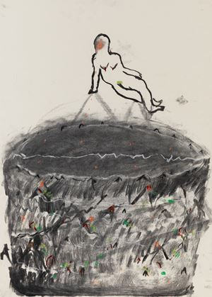 Pythia by Zhang Meng contemporary artwork works on paper, drawing