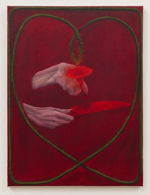 Red Morning Glory, Red Knife by Srijon Chowdhury contemporary artwork