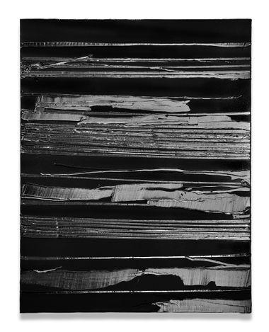 Pierre Soulages, Peinture 130 x 102 cm, 22 juillet 2020 (2020). Acrylic on canvas. 130 x 102 cm. Courtesy Lévy Gorvy.