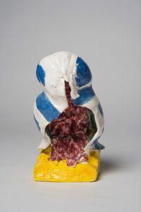 A kookaburra: blue stripe by Pie Rankine contemporary artwork sculpture, ceramics