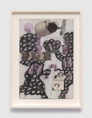 Untitled (Cupids with Skull) by Ray Johnson contemporary artwork