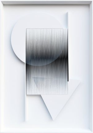 Alti e bassi by Alberto Biasi contemporary artwork