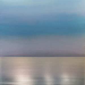 Kasumi Mist Sky Blue Lavender by Miya Ando contemporary artwork