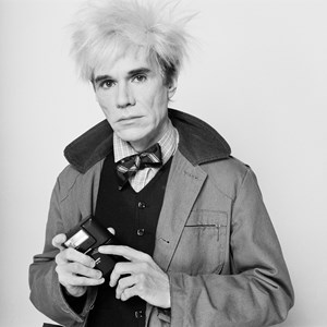 Andy Warhol with his Minox camera by Pierre Houlès contemporary artwork