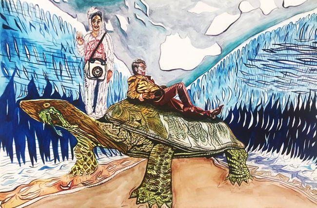 Turtle Dream by Katya Kan contemporary artwork