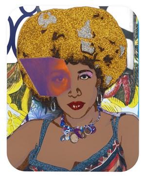 High Priestess #2 by Mickalene Thomas contemporary artwork
