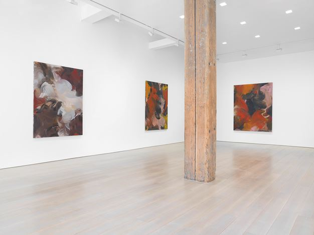 Exhibition view: Erin Lawlor, Miles McEnery Gallery, 525 West 22nd Street, New York(11 July–16 August 2019). Courtesy Miles McEnery Gallery.