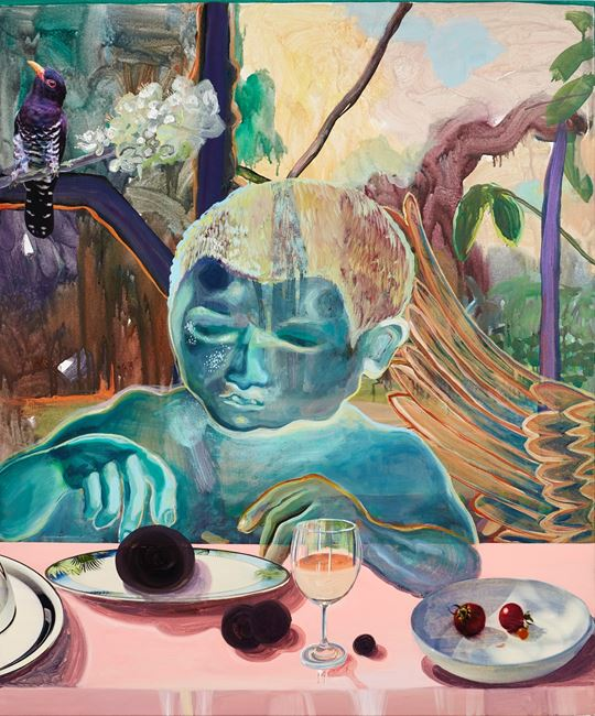 Celestial diners II by Ndidi Emefiele contemporary artwork