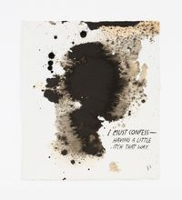 No Title (I must confess...) by Raymond Pettibon contemporary artwork painting, works on paper, drawing