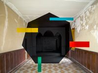 Bastia #2 by Georges Rousse contemporary artwork photography, print