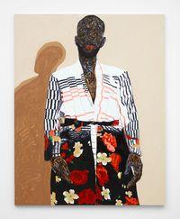 Stylish Overcoat by Amoako Boafo contemporary artwork painting