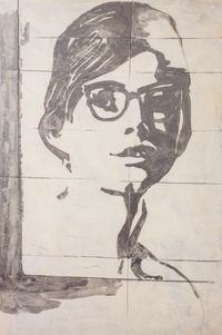 The Glasses by GIOSETTA FIORONI contemporary artwork works on paper, drawing