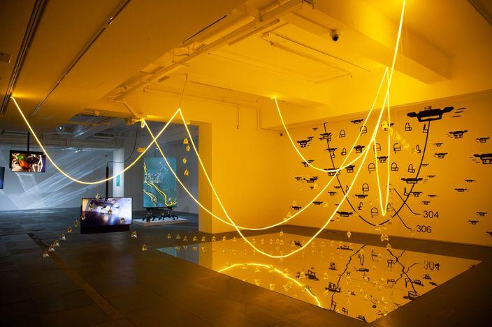 Exhibition view: Andrew Luk & Samuel Swope, ReadySetFulfill, de Sarthe, Hong Kong (13 March–8 May 2021). Courtesy de Sarthe.