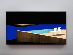 Shock and Awe (two chairs and pool) by Doug Aitken contemporary artwork