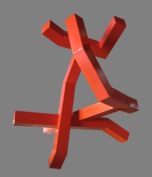 Untitled (orange to red) by Caleb Shea contemporary artwork