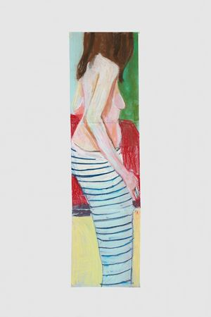 Self Portrait in Striped Trousers by Chantal Joffe contemporary artwork