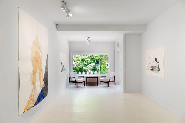 Exhibition view:Pamela Phatsimo Sunstrum, Panthea,Goodman Gallery, East Hampton (9–20 June 2021).Courtesy Goodman Gallery. Photo: Daniel Terna.
