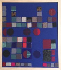 Circle and Square (group) by Julia Holderness contemporary artwork textile