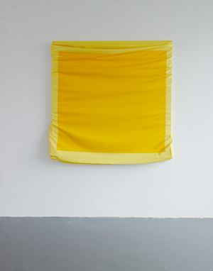 Layers - Large (Cadmium Yellow / Light Yellow) by Angela De La Cruz contemporary artwork