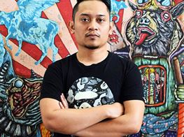 A Greedy Capitalist is No More Than a Beast on Shafiq Nordin's Canvas