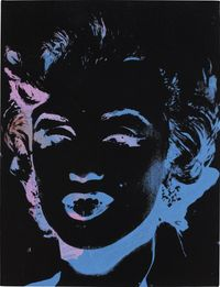 One Multicolored Marilyn (Reversal Series) by Andy Warhol contemporary artwork sculpture
