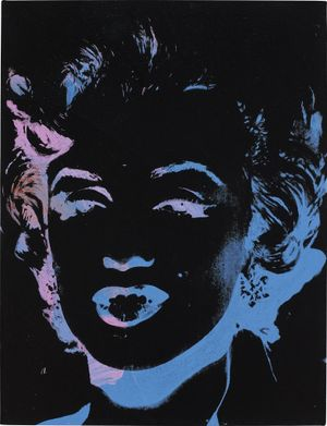One Multicolored Marilyn (Reversal Series) by Andy Warhol contemporary artwork